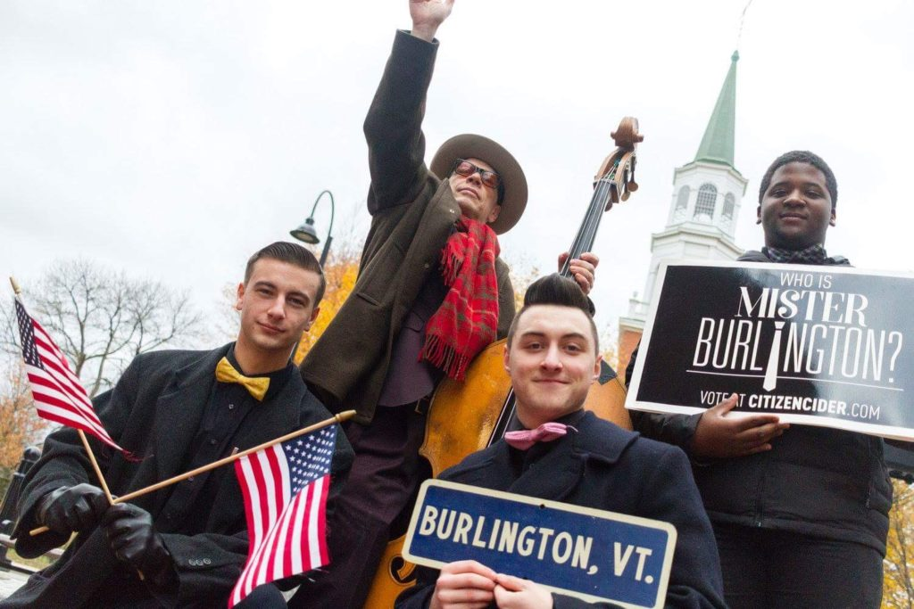 Billy Bratcher campaigns for Mr. Burlington
